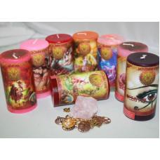 """Набор """"Любовная магия – привлечение и поиск"""" (8 свечей)"""