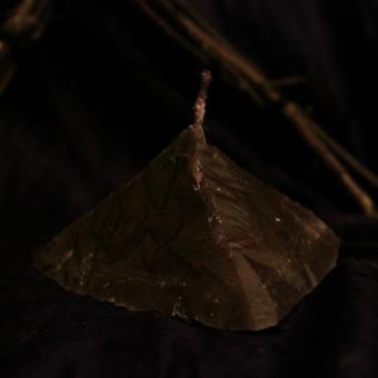 """Обрядовая свеча """"Черная Пирамида"""""""