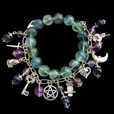 Комплект браслетов с цветным Флюоритом